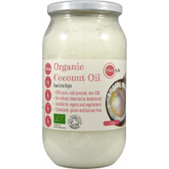 Coconut Oil Raw Organic Extra Virgin - Glass