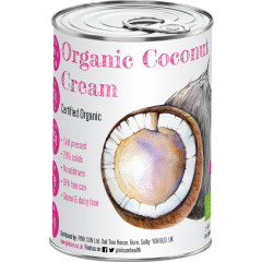 Coconut Cream Organic 400ml (Single tin ONLY £2.95 when you spend £20 on any PINK SUN products)